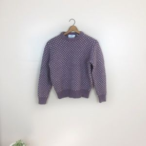 [Northern Isles] Wool Semi- Cropped Sweater